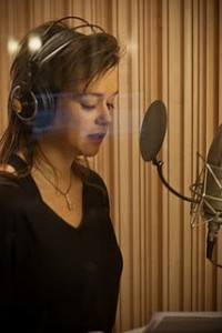 karin putting vocals on Walk the Walk